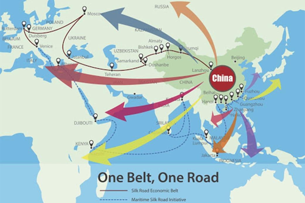 China world influence concept